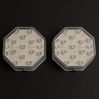Aromaglow Pack of 2 LED Octagonal Light Bases-946315