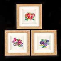 Rowandean Embroidery Trio of Asters Kit-946543