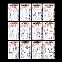 AALL & Create 12 x A7 Character Stamp Sets - 37 Stamps-948431