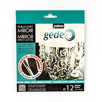 Pebeo Silver Mirror Effect Metal Foil - 12 Sheets-948487