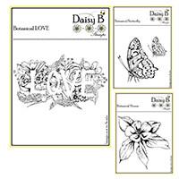 Nina Crafts Botanical Love Stamp Set - 4 Stamps-949468