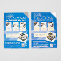 Tracedown A4 Bundle Set - Graphite Pack of 5 Sheets & White Pack -949493