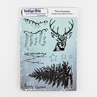 IndigoBlu A5 Red Rubber Cut Out Stamp  - Tree Dressing-950201