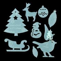 Kallosphere Christmas Template Selection x 8 Shapes-952084