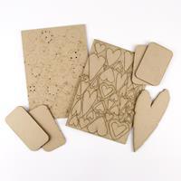 Tando Creative Greyboard Bundle - Large Heart, 4 x Rectangles, As-952542