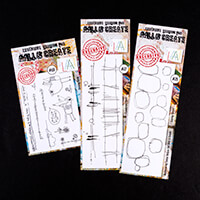 AALL & Create 3 x Stamp Sets - Landscape Lines, Quirky Circles & -953942