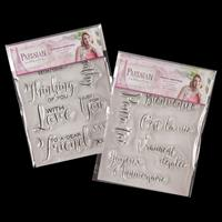 Sara Signature Parisian Acrylic Stamps - Everyday and French Gree-954953