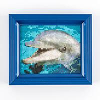 PixelHobby Dolphin Kit with Frame - Baseplate & 39 x Pixelsquare -955287