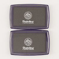 Threaders  2 x Large Fabric Ink Pad - Black-956620