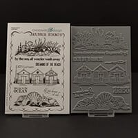Chocolate Baroque Seaside Dreams A5 Stamp Sheet - 7 Images-957296