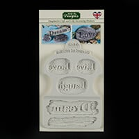 Katy Sue Dream Driftwood and Word Stones Silicone Mould-958047