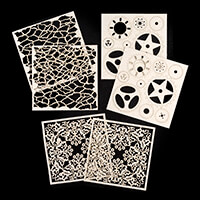 Imagination Crafts Magi-Cutz x 6 - Lace, Crackle and Cogs-959816