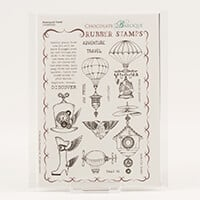 Chocolate Baroque Steampunk Travels A5 Stamp sheet-960712