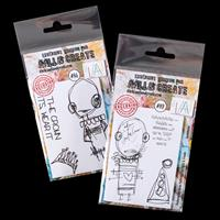 AALL & Create 2 x A7 Stamp Sets - Zara & Gwendolen - 6 Stamps-961038