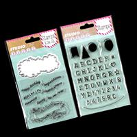 Luv Crafts 2 x Stamp Sets - Alphabet & Shapes with Banner & Senti-965762