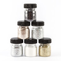 Creative Films 6 x 12g Jars of Glitter – Holographic Gold & Silve-965798
