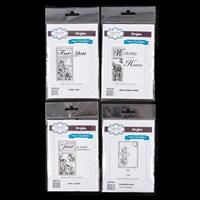 Creative Expressions 4 x Pre-Cut Stamp Sets - 5 Stamps Total-965922