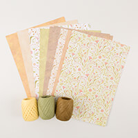 Wild Rose Studio A4 Paper Pack - Natural Textures with Matching 3-966818