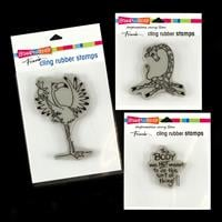 Stampendous 3 x Yoga Stamps - This Body, Yoga Giraffe and Yoga Fl-968378