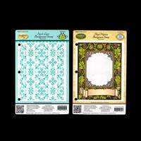 JustRite® 2 x Background Stamps - Floral Harvest & Sweet Lace-971141