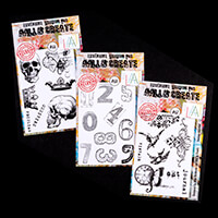 AALL & Create 3 x Stamp Sets  - House Numbers, Vintage Assorted &-971380