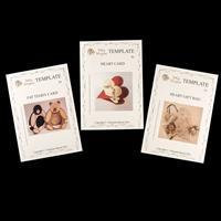 Dolly Dimples Set of 3 Templates - Fat Teddy Card, Heart Card & H-971485