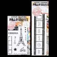 AALL & Create 2 x Stamp Sets - Cinema and Click! - 11 Stamps Tota-971500