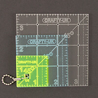 Crafty UK Set of 3 Squares Rulers 1.5