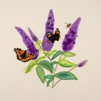 Rowandean Embroidery Book Project 9 - Buddleia with Bee & Butterf-973632