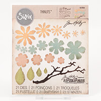Sizzix® Thinlits™  Set of 21 Dies - Tattered Mini Florals by Tim -977890