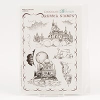 Chocolate Baroque Magical Landscapes A5 Stamp Sheet-978646