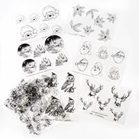 Glitter Greetings 12 Designer Acetates - Christmas Designs-979731