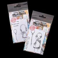 AALL & Create 2 x A7 Stamp Sets - Asher and Kaily - 6 Stamps-981252