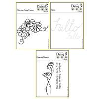 Nina Crafts Dancing Daisies Stamp Set - 8 Stamps-981345