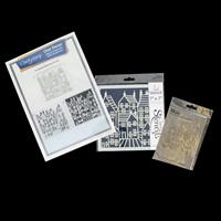 Claritystamp A4 Three Way Overlay Stamps - Townhouse - 3 x 8x8cm -981390