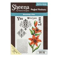 Sheena Perfect Partners A5 Stamp Set - Blooming Lilies - 7 Stamp -982682
