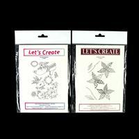 Lets Create 2 x Stamp Sets - Doodle-Ish Flower & Victorian Pleasu-983206