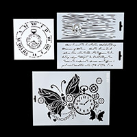 Imagination Crafts Stencil Collection - Time Goes By - 2 x 25x10c-983356