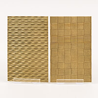 The PMC Studio Pack of 2 Wave Brass Texture Plate-984787