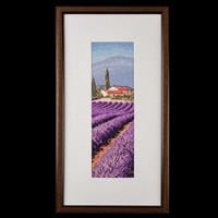 Heritage Lavender Fields Aida Cross Stitch Kit-984858