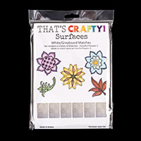 That's Crafty! White/Greyboard Matches - Fanciful Flowers Collect-985556