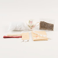 Simply Vintage Teacup Pincushion Kit - Floral-989266