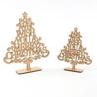 Samantha K 2 x Christmas Sentiment Trees - 1 x Large & 1 x Small-989428