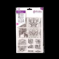 Gemini A5 Clear Stamp Set - Love Always - 14 Stamps-990478