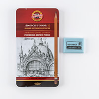 SAA Accessories Bundle - 12 x Pencils & 1 x Eraser-990481