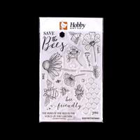 Hobby Art Bee Friendly A5 Clear Stamp Set - 23 Stamps-990611