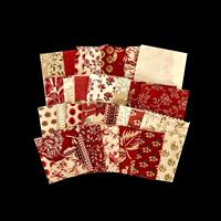 Six Penny Memories Moda La Vie en rouge Mini Charm & Fabric Pack -990986