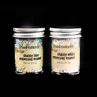 Stampendous Embossing Enamel - 2 x Pots - Shabby White and Shabby-992463
