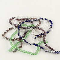 Dizzy Di 5 x Strands of 8 x 6mm Assorted Crystal Beads-993678