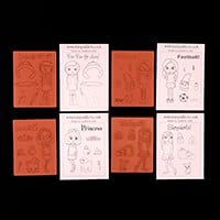 Stamp Addicts Judi's Girls Unmounted Rubber Stamps-994378